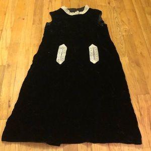 Vintage Velvet Gown w/ appliqués